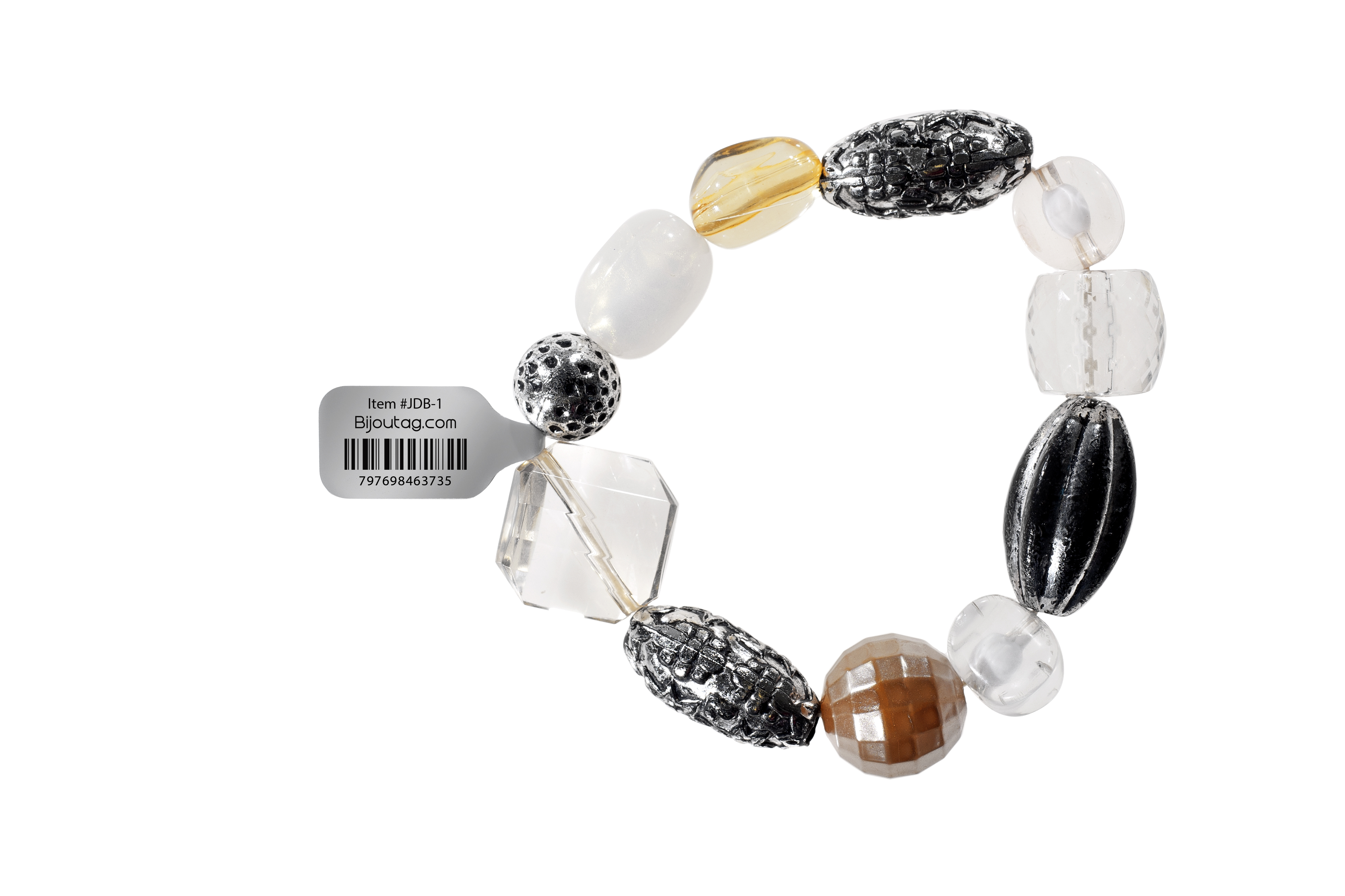 Jewelry Tag printed with a barcode for inventory control