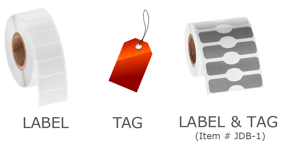 Label and Tag comparison with JDB-1 jewelry labels